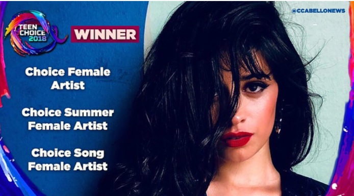 """Camila Cabello  >> álbum """"Camila"""" (II) - Página 35 Teen-choice"""