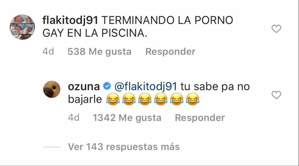 Ozuna responde a un hater