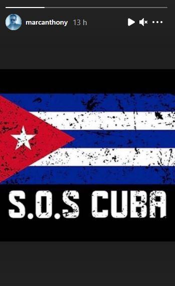 Marc Anthony se suma al SOS Cuba