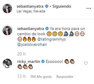 Ricky Martin comenta look Sebastian Yatra