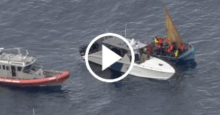 Interceptan un bote con 13 personas a bordo cerca de las costas de Florida