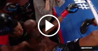 Leyenda del boxeo de 51 años es sacado del ring a golpes en su última pelea