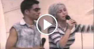 Luis Silva y Zajaris Fernández en sus inicios como artistas