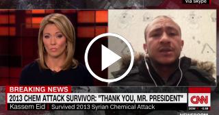 Superviviente sirio agradece a Donald Trump por el ataque
