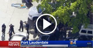 Un grupo de migrantes toca tierra en Fort Lauderdale y la policía los detiene