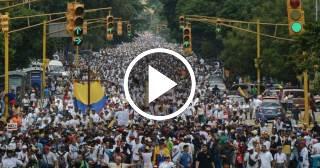 Venezolanos salen a las calles por el derecho a la libertad de expresión