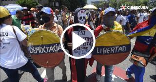 La oposición en Venezuela no se rinde y ha vuelto a las calles este miércoles 26 de abril
