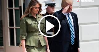 Melania Trump enciende las redes con su estilo militar