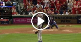 Bajo el influjo de Harper y Zimmerman los Nacionales igualan serie vs. Cubs