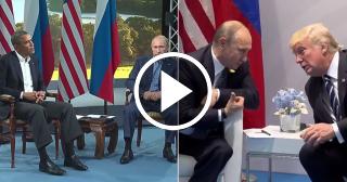 Las diferencias entre Obama y Trump cuando se encuentran con Putin