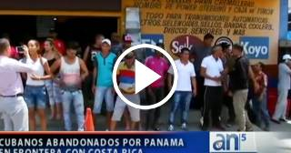 Situación límite para los cubanos abandonados en la frontera de Costa Rica