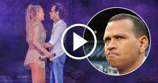 Jennifer Lopez le esquiva un beso en la boca a Marc Anthony en concierto de Dominicana