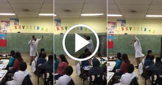 """Un profesor enseña matemáticas al ritmo de la canción """"Despacito"""""""