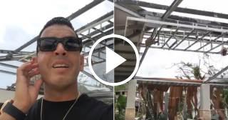 Tito El Bambino muestra entre lágrimas su casa destruida tras el paso del huracán María