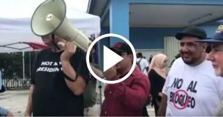 Simpatizantes del Gobierno de Cuba protestan en Miami por visita de Donald Trump