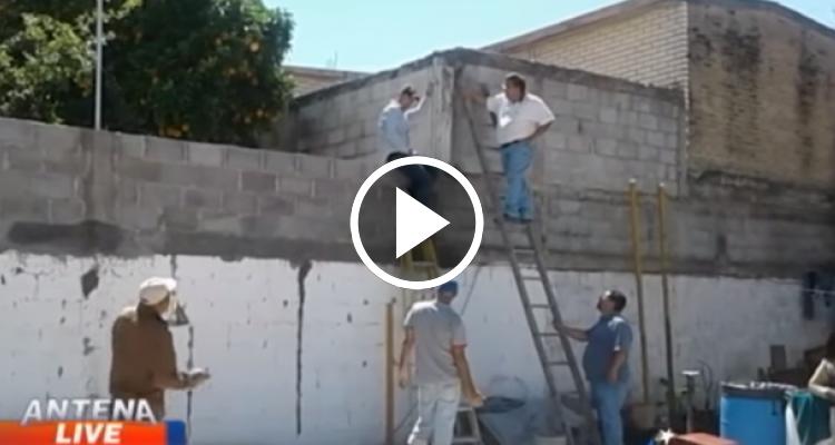 Cubanos varados en Nuevo Laredo muestran su agradecimiento ayudando a reparar iglesias