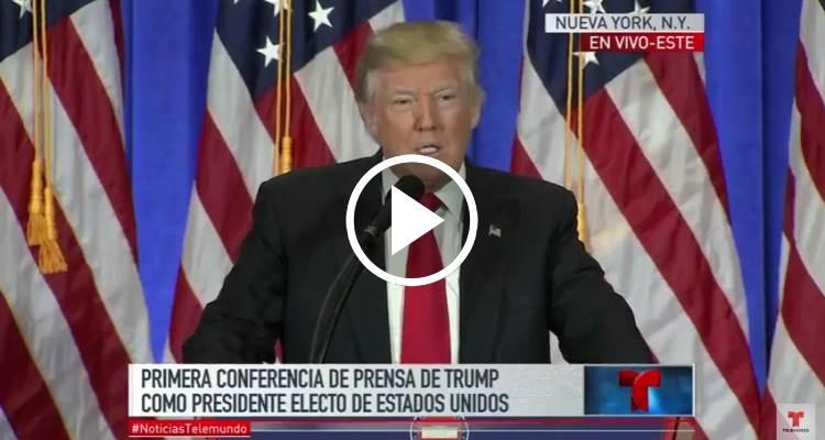 [EN VIVO] Primera rueda de prensa de Donald Trump como presidente electo de EE.UU.