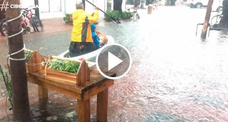 ¿Cómo quedaron las calles de Miami Beach luego de las inundaciones provocadas por Emily?
