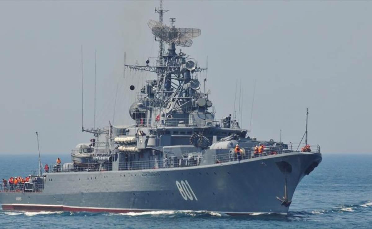 Rusia despliega su flota de guerra rumbo a la Marina de EE.UU en el Mediterráneo
