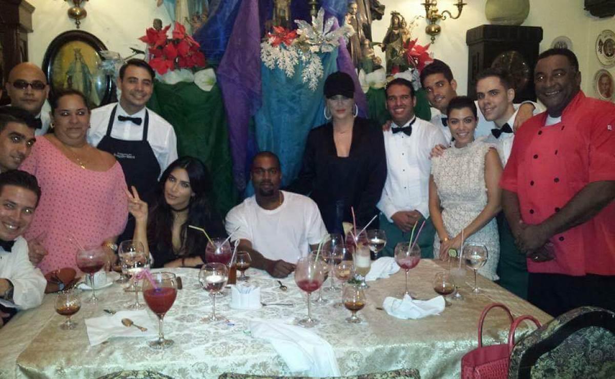 Kim Kardashian y Kanye West están en Cuba