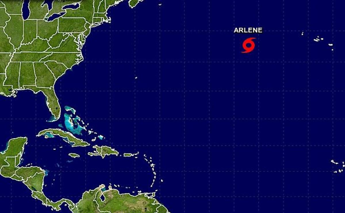 """Contra todo pronóstico: Se forma la tormenta tropical """"Arlene"""" en pleno mes de abril"""