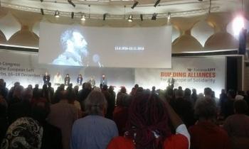 Izquierda Europea homenajea en su Congreso a Fidel Castro