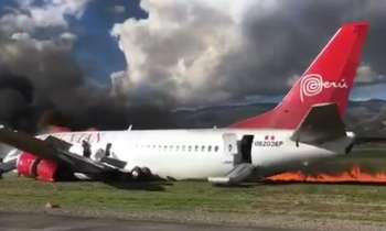 Avión de pasajeros en Perú se incendia tras aterrizar