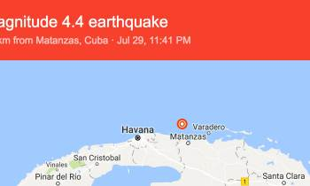 Cuba: Terremoto de 4.4 en la escala de Richter en Matanzas