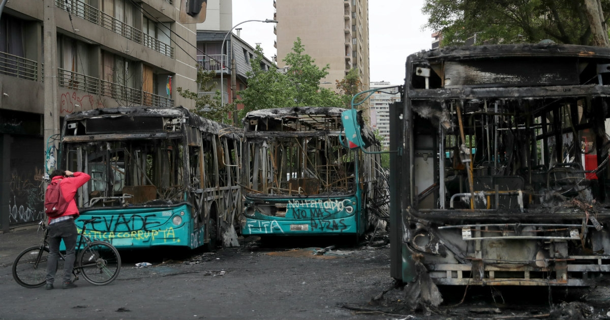 Image result for daños chile protestas