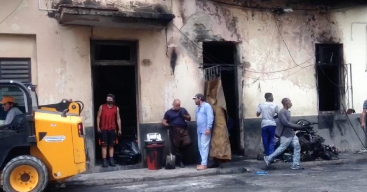 Folgen des Brandes in einer Werkstatt in Havanna | Bildquelle: https://t1p.de/7nm4 © Cibercuba | Bilder sind in der Regel urheberrechtlich geschützt